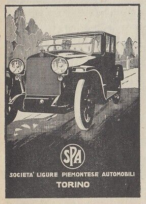 Z2701 Automobili SPA - Illustrazione - Pubblicità d'epoca - 1923 old advertising