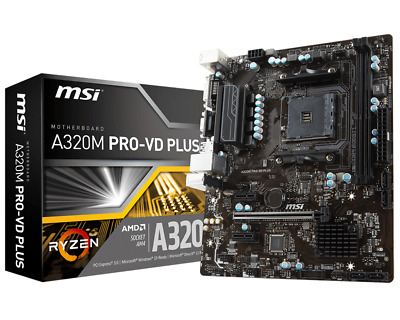 MSI A320M PRO-VD PLUS - mATX Motherboard for AMD Socket AM4 CPUs