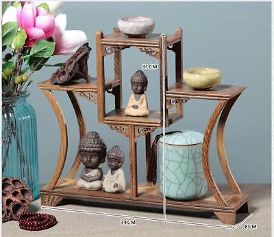 Chinaese Beautiful Wooden Handmade Collection Of Antiques Shelves XY42