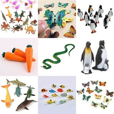 Lot Plastic Figure Jungle Wild Animals Bugs Insects Kids Toy Party Bag Favor .
