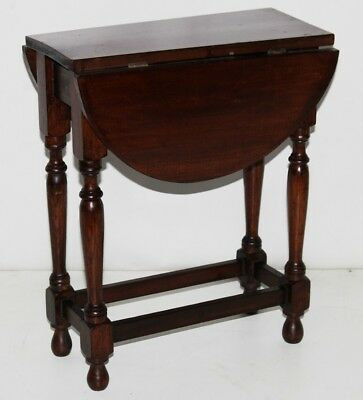 Antique Victorian Oak Drop Leaf Coffee Side Table -FREE Shipping [PL3819]