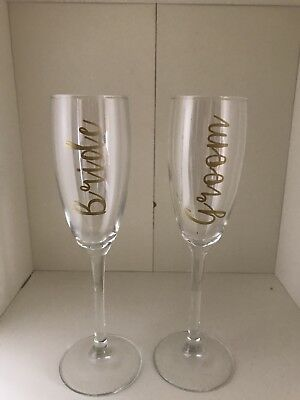 Champagne Flutes.  Bride/Groom/Bridesmaid/Mother of the Bride