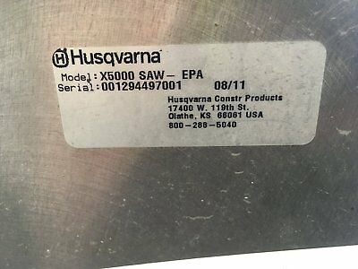 Husqvarna concrete cutting saw