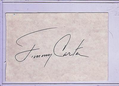"Jimmy Carter Autograph 3"" x 5"" Cut"