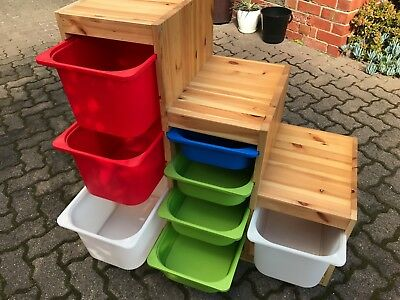IKEA Trofast Toy Storage System Unit and Boxes
