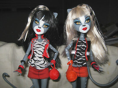 Monster High Meowlody And Persephone Werecat Twins Sisters Dolls