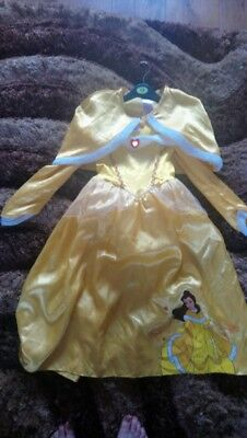 Disney belle dress with cape 7-8 years
