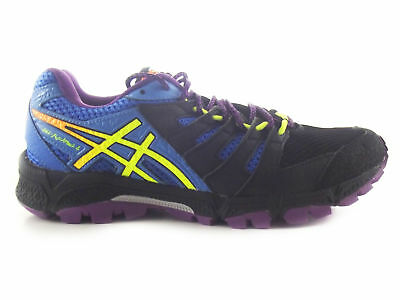Asics Gel-fujiattack 4 Womens Ss15 : Onyx/flash Yellow/powder Running Shoes