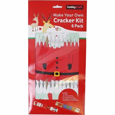 Diy 6 pack make your own christmas cracker kit silver or gold hobbycraft make your own santa and reindeer cracker kit 6 pack christmas craft solutioingenieria