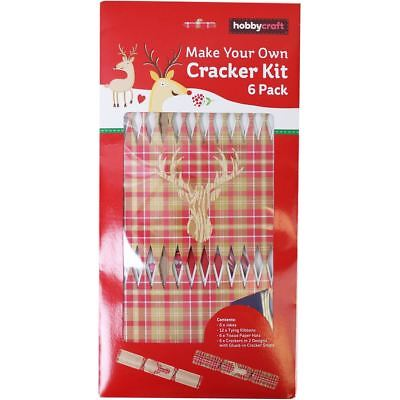 Diy 6 pack make your own christmas cracker kit silver or gold hobbycraft make your own stags head cracker kit 6 pack christmas craft party solutioingenieria Choice Image
