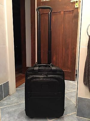 Genuine TUMI Leather Carry On Luggage Briefcase As New