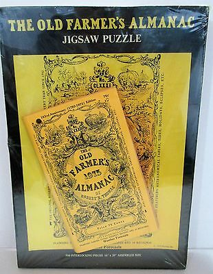 Vintage Sealed PUZZLE w/ 1975 OLD FARMERS ALMANAC 183 Anniversary Edition Inside