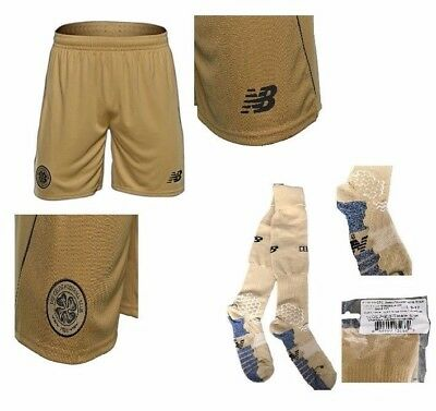 NB Never Released Celtic Gold Change Away Change Shorts + Socks Player Issue