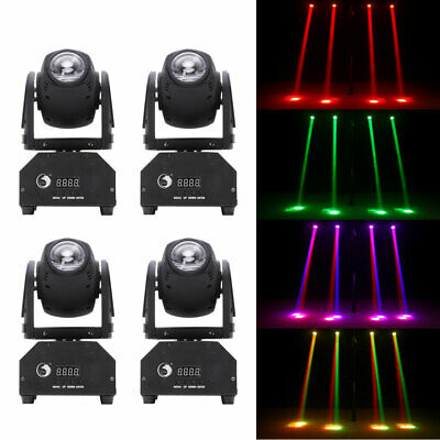 U`King 4PCS 60W Stage Lighting RGBW LED DMX Moving Head DJ Ciub Party Show Light