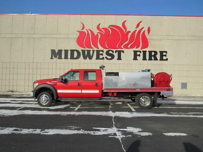 Custom Midwest Fire Brush Truck New Ford F-550 Crew Cab Chassis