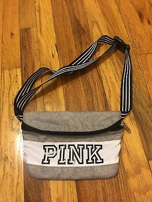 Victoria's Secret PINK Gray And White Fanny Pack