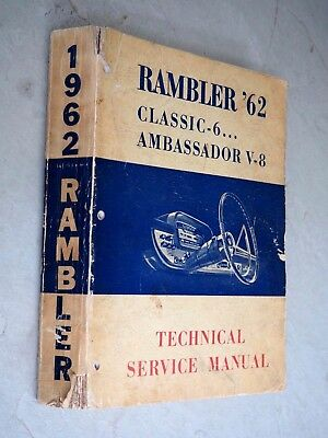 1962 Rambler Classic Ambassador Oem Service Shop Repair wiring diagrams for 1968 amc wiring wiring diagrams Basic Electrical Wiring Diagrams at creativeand.co