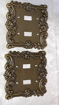 Amertac 1967 60TT ORNATE FLORAL & SCROLLS DOUBLE SWITCH OUTLET COVERS EXC! SALE!