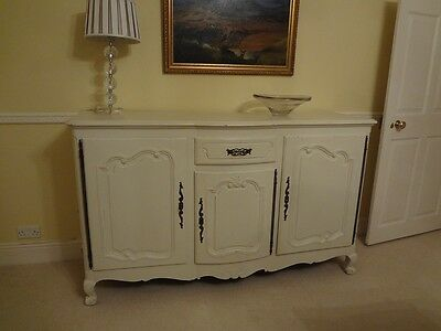 Antique French painted cherry wood sideboard