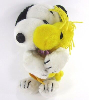 Swivel Head Snoopy Hinge spring Arms around Hugging Woodstock VTG plush Peanuts