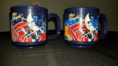 "Vintage ""MAC Tonight"" McDonalds plastic coffee mugs, circa 1988."