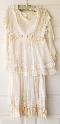 Antique Vintage Lace Multi-Layer Nightgown