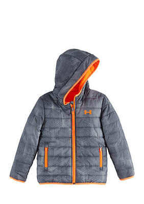 Boy's Size 4 Under Armour Gray Reversible Cold Gear Jacket Coat Nwt