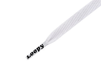 Loopy Laces Flatstyle 1300mm X 10mm White Laces
