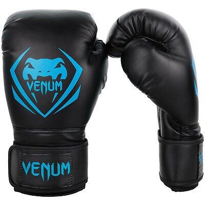 Venum Boxing Gloves Contender Cyan Sparring Muay Thai Kickboxing 10 12 14 6oz