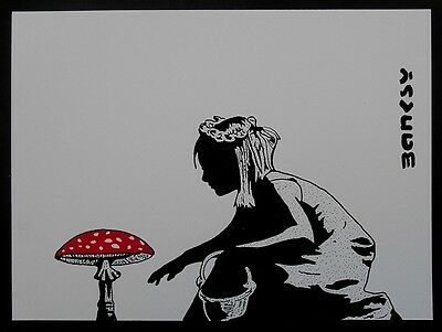 Handmade - BANKSY - Ink Drawing on paper