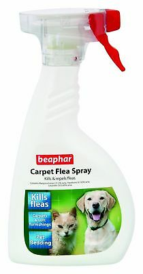 Beaphar Carpet Flea Spray 400ml - Destroys Kills & Repels Fleas Natural
