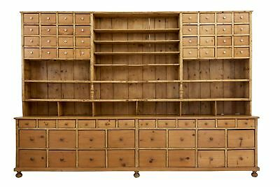 Large Impressive Victorian Pine Apothecary Cabinet Dresser