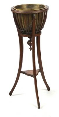 Antique Edwardian Inlaid Mahogany Jardiniere Plant Stand -FREE Delivery [PL1633]