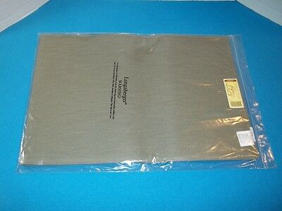 Longaberger Sage Green Placemats 2 Pack New In Package