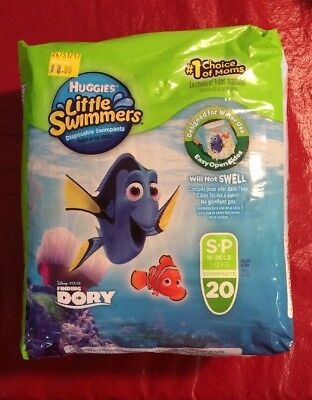 Huggies Little Swimmers Disposable Diaper Swimpants Small 20 Count Finding Dory