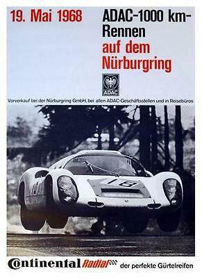Porsche *POSTER*  908 race car GERMANY 911 - AMAZING ART PRINT Nurburgring