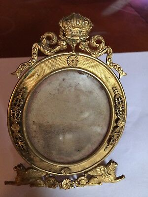 Antique French made brass photo frame