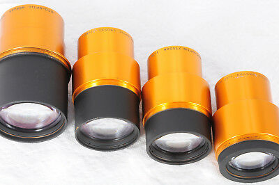 Lot 4 Projection lenses Isco Ultra Star 85mm 80mm & 75mm & 65mm 425
