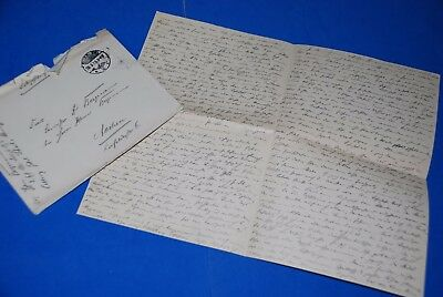 1918 World War, German Captain Field Post Vintage old Letter WWI, Antique yy 40