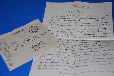 1918 World War, German Captain Field Post Vintage old Letter WWI, Antique yy 38