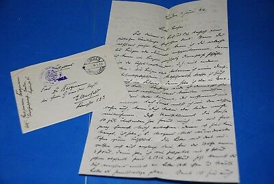 1918 World War, German Captain Field Post Vintage old Letter WWI, Antique yy 33