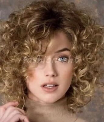 Ladies Blonde Brown Short Curly Wig Beautiful And Brand New