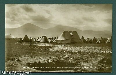 BALLYKINLAR CAMP,BY MOUNTAINS OF MOURNE, vintage postcard