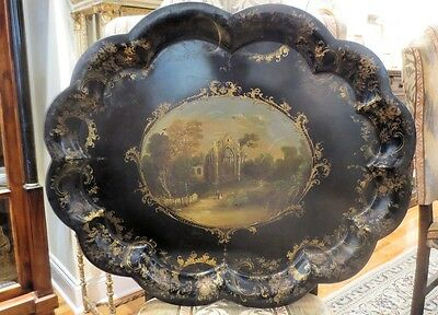 Victorian Painted Tole Tray