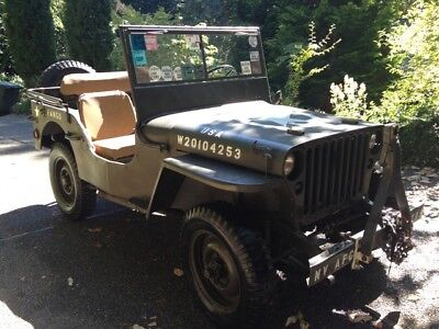 1942 Ford GPW WWII Army Jeep