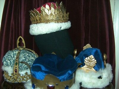 Mens THEATRICAL METAL CROWNS X 4 BY WATTS / HOMBURGS / BERMANS THEATRE COSTUME