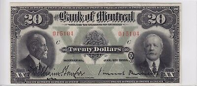 1923 Bank of Montreal Canada $20 Note VF