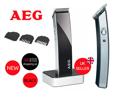 AEG Beard Hair Trimmer 5638 BLACK Men EASY CUT RECHARGEABLE HAIRCUTTING MACHINE