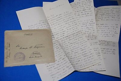 1918 WWI German Captain Field Post Vintage old Letter, Antique yy
