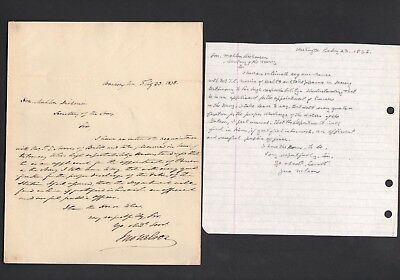 1838 ALS Signed Letter Attorney General John Nelson For President John Tyler PSA